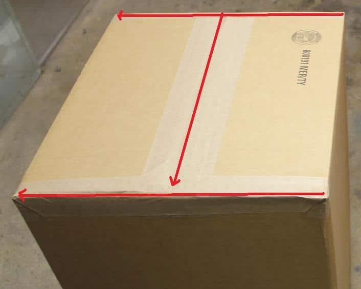 paquete sellado tipo H